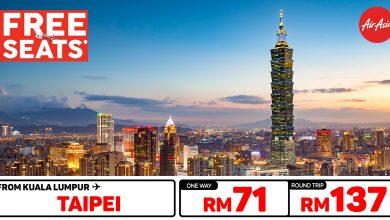 Photo of 【#时间表】吉隆坡KUL — 台北Taipei 单程RM71 来回RM137 [Exp: 26 Feb 2020]
