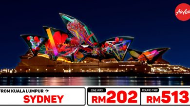 Photo of 【#时间表】吉隆坡KUL — 悉尼Sydney 单程RM202 来回RM513 [Exp: 26 Feb 2020]