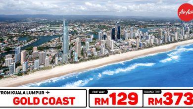 Photo of 【#时间表】吉隆坡KUL — 黄金海岸Gold Coast 单程RM129 来回RM373 [Exp: 26 Feb 2020]