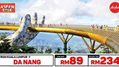 Photo of 【#时间表】吉隆坡KUL — 岘港Da Nang 单程RM89 来回RM234 [Exp: 27 Feb 2020]