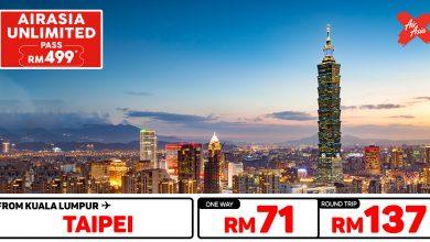 Photo of 【#时间表】UNLIMITED PASS 吉隆坡KUL — 台北TPE 单程RM71 来回RM137!