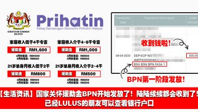 Photo of 【生活资讯】国家关怀援助金BPN开始发放了!陆陆续续都会收到了!