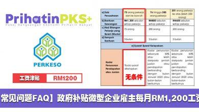 Photo of 【常见问题FAQ】政府补贴中小型企业雇主每月RM1200!