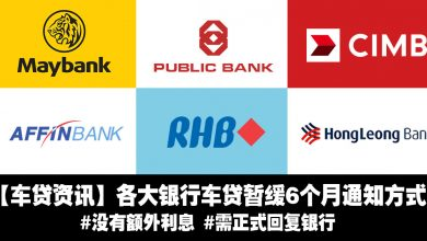 Photo of 【车贷资讯】各大银行车贷暂缓6个月通知方式