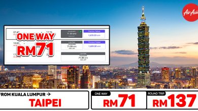 Photo of 【#时间表】吉隆坡KUL — 台北Taipei 单程RM71 来回RM137!#AirAsiaUnlimitedPass