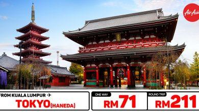 Photo of 【#时间表】吉隆坡KUL — 东京Tokyo 单程RM71 来回RM211 [Jan 2021 ~ Jun 2021]