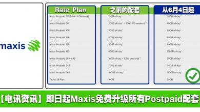 Photo of 【电讯资讯】即日起Maxis 免费升级所有Postpaid配套!